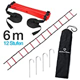 #DoYourFitness Koordinationsleiter/Fitnessleiter - Länge 4m 6m 8m - Trainingsleiter (ENGL Agility...
