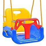 Emwel Babyschaukel - 3-in-1 Kinderschaukel Babyschaukel Kinderschaukel für Baby und Kinder...