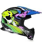 Motocross Helm, Schutzbrille + Handschuhe + Knieschützer Profi Rallye Motorrad Helm Abnehmbarer Und Waschbarer Erwachsenenhelm Set A1