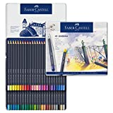 Faber-Castell 114648 Aquarellfarbstift, Goldfaber, 48er Metalletui
