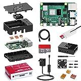 Bqeel Raspberry Pi 4 Model B 2 GB Ultimatives Kit mit Quad-Core ARM-Cortex-A72/ 64GB Class10 Micro SD-Karte/unterstützt BT5.0/Gigabit-Ethernet/Dual Display 4K 60Hz /Upgraded für Raspberry Pi 3