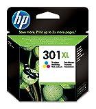 HP 301XL Farbe Original Druckerpatrone mit hoher Reichweite für HP Deskjet, ENVY, OfficeJet