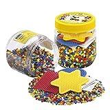 Hama Beads 4,000 Beads and Pegboard Tub, Yellow