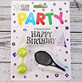 Tennis Candle Kit - Happy Birthday Motto With Tennis Balls and Racquet Candles by Club Green