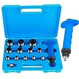 TECPO 300568 Locheisen Satz 14-teilig Loch Stanzen Henkellocheisen 5-35mm Lochstanzer Werkzeug