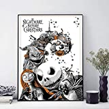 YuanMinglu Nightmare Before Christmas Charakter Poster Drucken Wandbild Kunst Leinwand Dekoration...