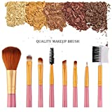 Luckyx Make-up Pinsel 8PCS Make-up Pinsel Set Premium Synthetic Foundation Pinsel Mischung...