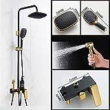 KSRUI Badezimmer-Duschset, Haushalts-Vollkupfer-Sprinkler-Set mit Druckdusche, einschließlich...