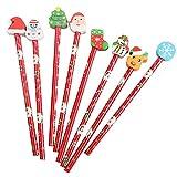 Cartoon Weihnachten Radiergummi Bleistift Set Kinder Weihnachten Schule Liefert Geschenk 40 Pack