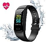 Fitness Armband mit Blutdruckmessung,Smartwatch Fitness Tracker mit Pulsmesser Wasserdicht IP67...