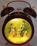 Green Pastures Wholesale Glitzernde Kristalllampe mit Schneemann innen, 20,3 cm, Mehrfarbig