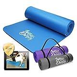 Jung & Durstig Original Yogamatte | Fittnessmatte 180 x 60 x 1 cm | Gymnastikmatte für Pilates,...