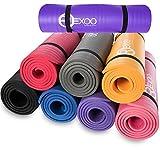 REXOO Pilates Yogamatte Fitnessmatte Gymnastikmatte Sportmatte Matte, Farben:Grau