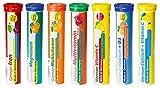 Brausetabletten Sortimentmix T&D Pharma - 7x20 = 140 German Brausetabletten - Vitamine und Mineralien in fruchtigen Geschmäckern - Made in Germany
