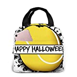 Happy Halloween Und Tennisball Lunchpaket Für Damen Lunchpaket Isoliertes Lunchpaket Lunchpaket...