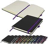 Executive zweifarbiges A5-Notizbuch, liniert, Hardcover, Notizbuch, Notizbuch, Notizbuch, Tagebuch, Block (lila)