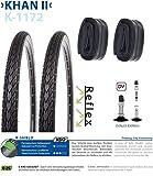 P4B   Komplettes 28 Zoll Fahrrad Reifen Set = 2X 35-622 (28' x 1 3/8 x 1 5/8) Fahrradreifen mit...