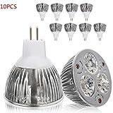 jaspenybow 10PCS 9W Light Cup Warm White MR16, spart mehr als 90 Strom, geeignet für...