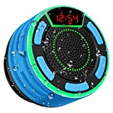 Bluetooth Lautsprecher, moosen IPX7 wasserdicht Tragbares kabelloser Bluetooth Shower Speaker mit FM...