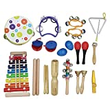 Musikinstrument-Spielzeug Kit 19pcs / Satz umfassen Tambourine Grip Tambourine Xylophone Musik Stahl...