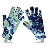 BARCHI HEAT Angelhandschuhe, für Herren und Damen, mit UV-Schutz, LSF 50+, Touchscreen-Handschuhe, fingerlos, rutschfest, kühlend, für Kajakfahren, Wandern, Paddeln, Fitness, Workout, Fahren, Golf