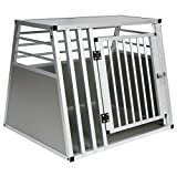 EUGAD Hundebox Autobox Transportbox Alubox Reisebox Gitterbox Alu Box Aluminium 1 Türig 80 * 65 *...