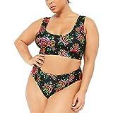 Damen Zweiteilige Bademode Große Größen Badeanzug Bikini Set Push Up Sommer Schneiden Monokini...