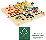 small foot 2430 Ludo 'Pirateninsel' aus Holz, Brettspiel in originellem Piraten-Design, Spielbrett...
