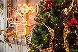 YKCKSD Klassische Holzpuzzles - Alphabet Puzzle, Schöner Weihnachtsbaum, Leuchtende Santa,...