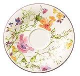 Villeroy & Boch Mariefleur Basic Kaffee-Untertasse, schöne Untertasse mit verspieltem Blumendekor...