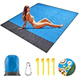Alviller Picknickdecke 210 x 200 cm Ultraleicht Stranddecke wasserdichte, kompakt, Sandabweisende,...