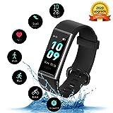 Kungix Fitness Armband, IP68 Wasserdichtes Fitness Tracker, Fitness Uhr mit Pulsmesser,...