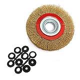 Wire Wheel SENRISE 1 x Drahtbürste, gewellt, flach, rund, Drahtreifen mit Reduzierringen für die...