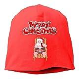 Skull Cap Solid Hedging Cap Wollmütze Frohe Weihnachten Unisex Beanie Hats Black