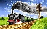 Fanshop Lünen Fahne - Flagge - Eisenbahn - Dampflok - Bahn - 90x150 cm - Hissfahne 2 Ösen -...