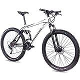 CHRISSON 29 Zoll Mountainbike Fully - Hitter FSF Weiss schwarz - Vollfederung Mountain Bike mit 30...