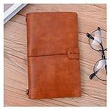 SFF Büro-Tagebuch Vintage PU-Leder Notizbuch Kreative Reisende Business Papier Notizbücher Tagebuch Tagebuch Skizzenbuch Planer Geschenk Schreibwaren Notizbücher Schreiben (Farbe: Braun)