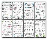 Trust-Shop Sticker Hochzeit Gästebuch - 176 Hochzeit Sticker/Aufkleber auf 8 Seiten für die...