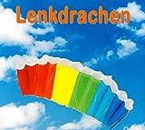 SUPwave Lenkdrache 55 x 120 cm, Kite, Lenkmatte, Mattendrache, Drache inkl. Lenkschnüre 2 x 50m...