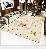 Moderner Rechteckiger Teppich, Europäischer Geometrischer Teppich Mit Buchstabendruck, rutschfeste...