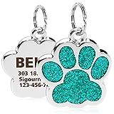 TagME Personalisierter Hund & Katze Marke/Hundemarke aus Edelstahl mit eingraviertem Namen und...