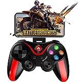 QIYUE Mobile Gamepad-Controller-Tasten Zugeordnet Schießen Spiel Handle mehr Kampf Racing Game 4-6 Zoll S Phone - Direct Play (Color : Red)