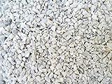 Doubleyou Geovlies & Baustoffe Dekosteine weiß 6-9 mm. (Marmorsplitt) (Weiss, 1 kg)