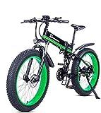 WJSW Elektrisches Fahrrad 1000W, faltendes Mountainbike, Fetter Reifen 48V 12.8AH
