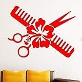 Tianpengyuanshuai Kreative Blume Schnitt Kamm Muster Wandaufkleber Mädchen Schlafzimmer Hintergrund...