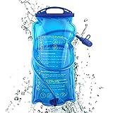 1.5L 2L 3L Trinkblase mit Beissventil, auslaufsicher Wasserbehälter, antibakteriell Trinkbeutel...