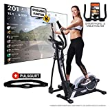 Miweba Sports Crosstrainer MC300 Stepper Ellipsentrainer Heimtrainer - App Steuerung - 21 Kg...