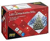 Idena 8325058 - LED Lichterkette mit 80 LED in warm weiß, mit 8 Stunden Timer Funktion, Innen und...