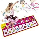 MOOKLIN ROAM Piano Musikmatte,8 Tierstimmen Klaviertastatur Spielzeug Musik Matte,Keyboard Matten Spielteppich Baby Tanzmatte für Jungen Mädchen Kinder 100*36 cm
