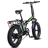 500W Elektro-Klapprad, 48V Mens Berg E Bike 7 Variable Speed ​​4-Zoll-Fat Tire Straßen-Fahrrad...